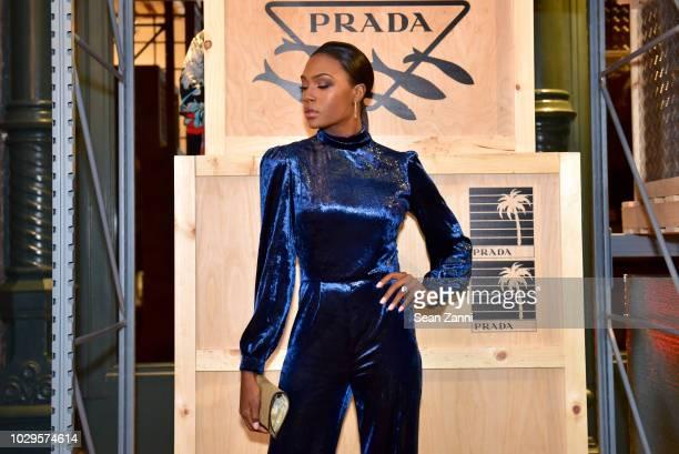 Afiya Bennett attends the Prada Linea Rossa event at Prada Broadway NY on Sept 8 2018