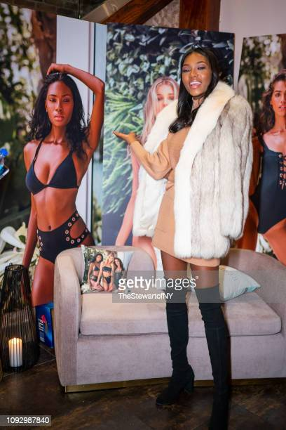 Afiya Bennett attends the Revival Swimwear launch at Yara in Midtown on January 11 2019 in New York City