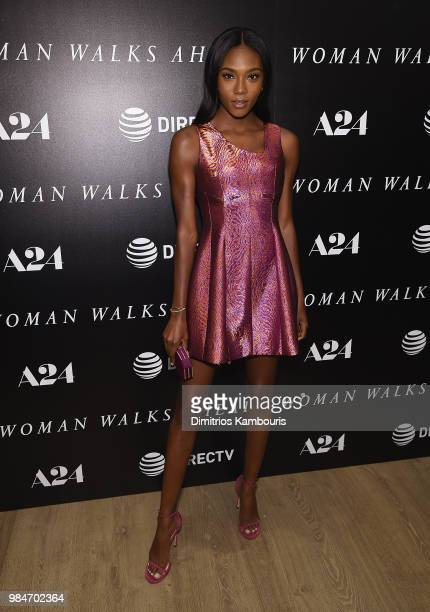 Afiya Bennett attends The 'Woman Walks Ahead' New York Screening at the Whitby Hotel on June 26 2018 in New York City