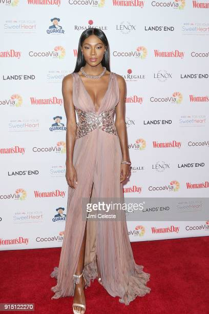 Afiya Bennett attends Woman's Day Celebrates 15th Annual Red Dress Awards at Appel Room at Jazz at Lincoln Centerâ Frederick P Rose Hall on February...