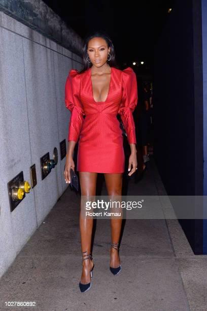 Afiya Bennett is seen in Manhattan on September 5 2018 in New York City