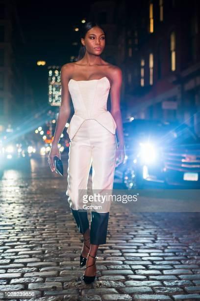Afiya Bennett is seen in SoHo on September 6 2018 in New York City