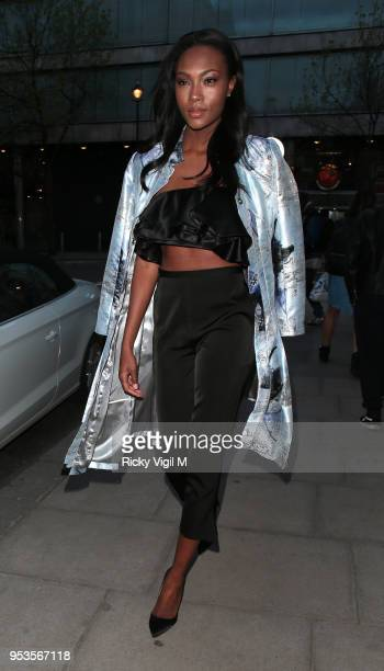 Afiya Bennett seen attending Tangle Teezer Summer Pool Party at Haymarket Hotel on May 1 2018 in London England