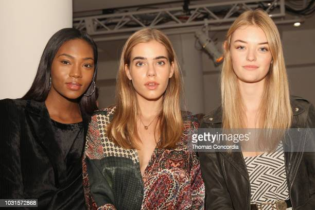 Afiya Bennett Sif Saga and Willow Hand attend STYLE360 hosts Mery Playa by Sofia Resing sponsored by Skechers D'Lites on September 11 2018 in New...
