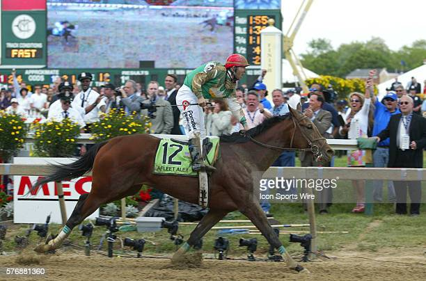 Afleet Alex with Jeremy Rose up wins the 130th running of the Grade I one million dollar Preakness Stakes at Pimlico race track in Baltimore Maryland...
