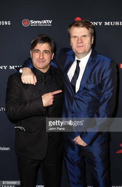 Afo Verde and Rob Stringer attend Sony Music Latin Celebrates Its Artists At Their Annual Latin Grammy After Party on November 16 2017 in Las Vegas...