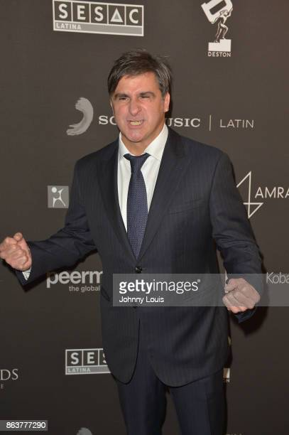 Afo Verde attends the black carpet of The MUSA Awards Latin Songwriters Hall of Fame at James L Knight Center on October 19 2017 in Miami Florida