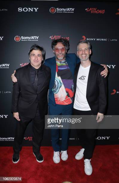 Afo Verde Fito Paez and Nir Seroussi arrive at Sony Music Latin Official Latin Grammy's After Party on November 15 2018 in Las Vegas Nevada