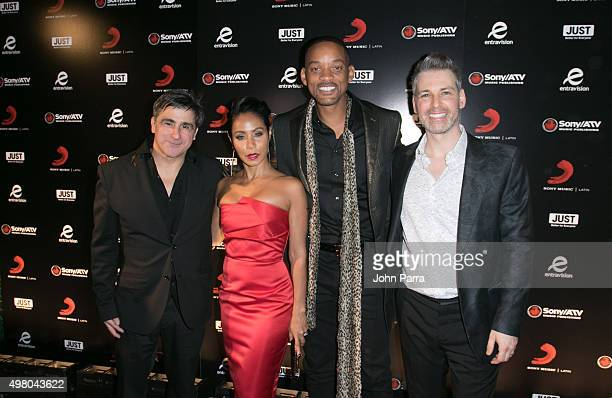 Afo Verde Jada Pinkett Smith Will Smith and Nir Seroussi attend Sony Music Latin's Official Latin Grammy After Party at XS nightclub at Encore Las...
