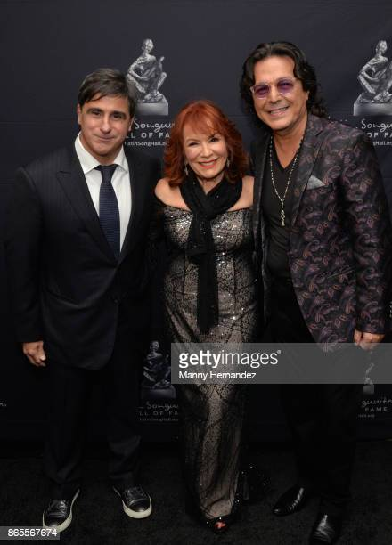 Afo Verde Vikki Carr and Rudy Perez at the 5th Annual Latin Songwriters Hall Of Fame's La Musa Award at James L Knight Center on October 19 2017 in...