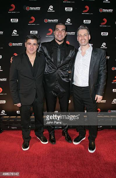 Afo VerdeJose Manuel Pinto and Nir Seroussi attend Sony Music Latin's Official Latin Grammy After Party at XS nightclub at Encore Las Vegas on...