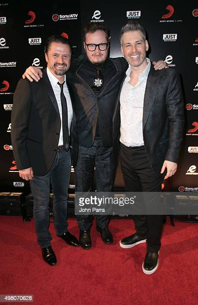 Afo VerdeLeonel Garcia and Nir Seroussi attend Sony Music Latin's Official Latin Grammy After Party at XS nightclub at Encore Las Vegas on November...