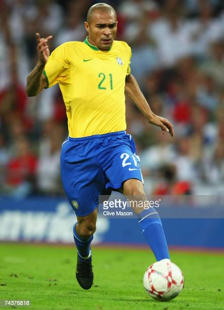 Afonso Alves of Brazil in action during the International Friendly match between England and Brazil at Wembley Stadium on June 1 2007 in London...
