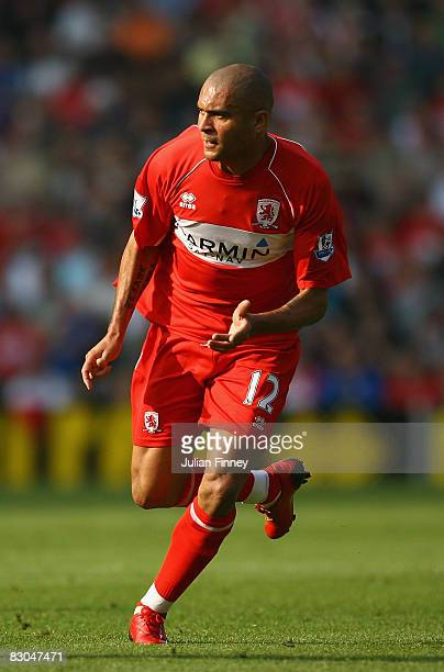 Afonso Alves of Middlesbrough during the Barclays Premier League match between Middlesbrough and West Bromwich Albion at the Riverside Stadium on...