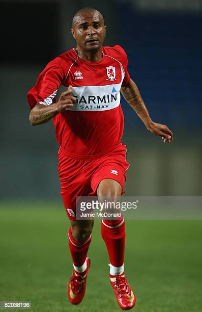 Afonso Alves of Middlesbrough in action during the Algarve Challenge Cup match between Celtic and Middlesbrough at the Estadio Algarve on July 22...