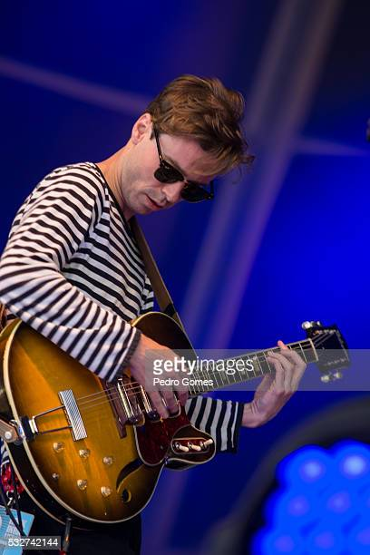 Afonso of Keep Razors Sharp performing at Vodafone stage in Rock in Rio on May 19 2016 in Lisbon Portugal