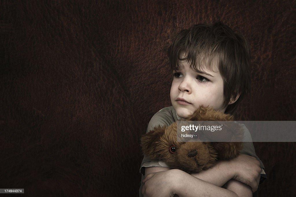 Afraid Child : Stock Photo
