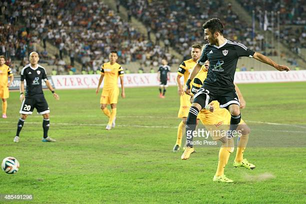 Afran Ismayilov Young Boys player tussle for the ball during the UEFA Europa League playoff first leg match between Switzerlands BSC Young Boys Bern...