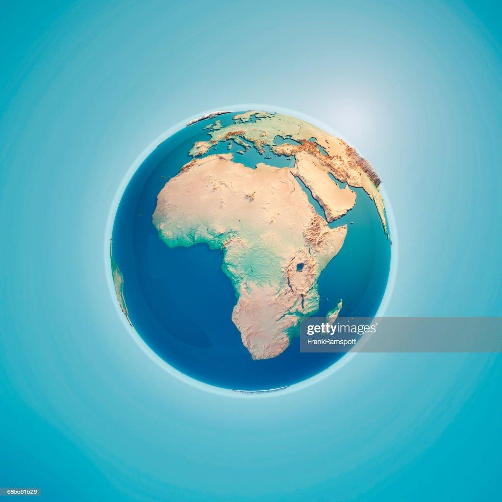Afrika-3D Render-Erde : Stock-Foto