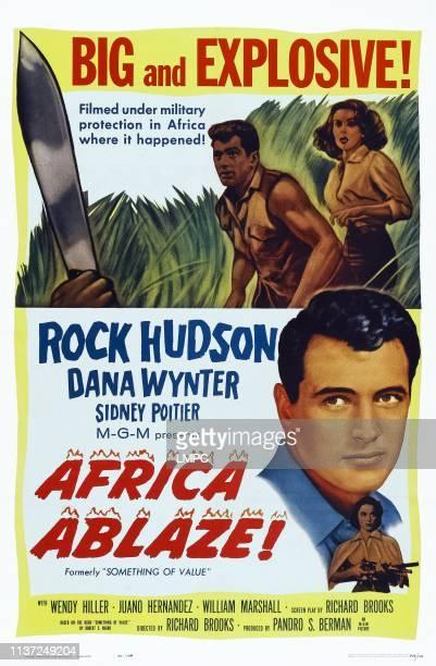 Africa Ablaze poster poster art top lr Rock Hudson Dana Wynter bottom Rock Hudson Dana Wynter 1957