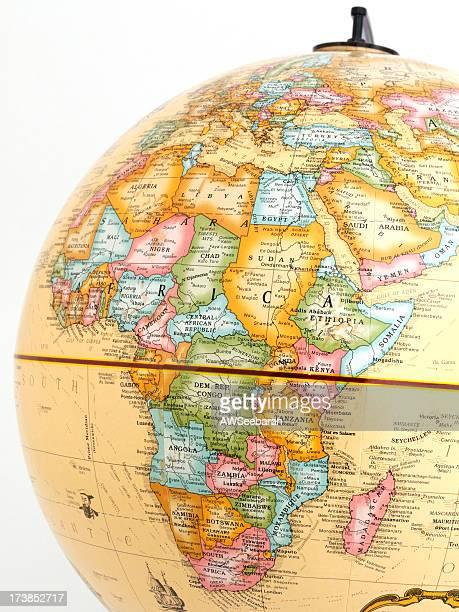 Africa and Madagascar on Globe