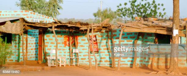 Africa, Burkina Faso, Ouagadougou, View Of Business Premises, Maybe A Bar Or Cafe (Year 2007)