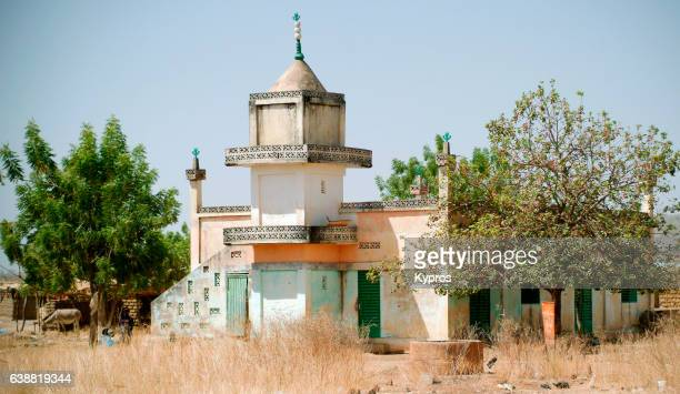 africa, burkina faso, ouagadougou, view of mosque (year 2007) - ブルキナファソ ストックフォトと画像