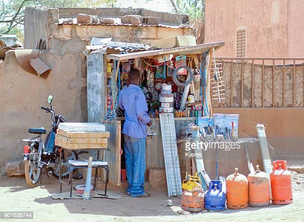 Africa, Burkina Faso, View Of Hardware Shop (Year 2007)