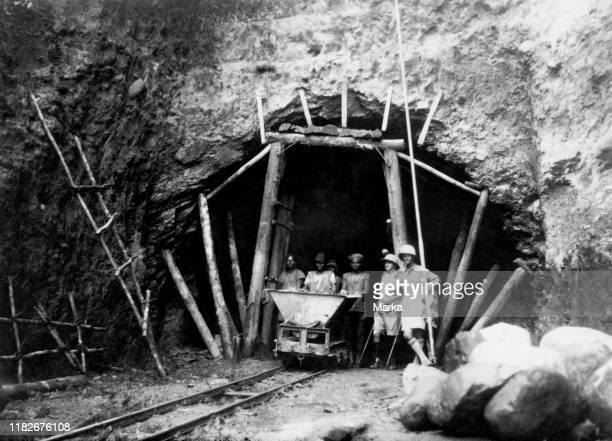 Africa, congo Belgian entrance of a tunnel during the construction of the railway congo - ocean, 1923-24.