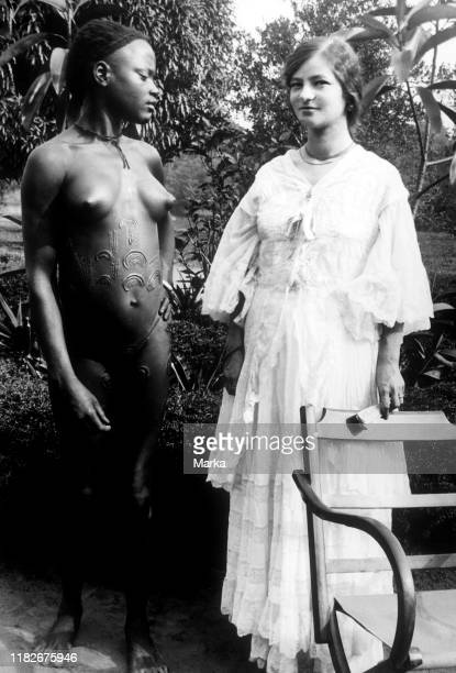 Africa, congo Belgian, two ethnic groups compared, 1910.