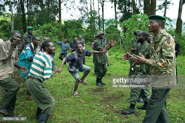 Africa, Congo, Kilolirwe, soldiers doing training exercise