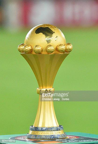 Africa Cup Of Nations trophy during the 2015 Orange Africa Cup of Nations Final soccer match Ivory Coast vs Ghana at Bata stadium in Bata Equatorial...
