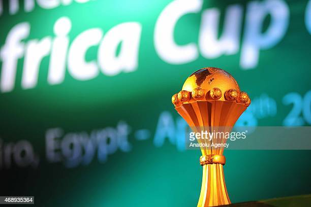 Africa Cup of Nations trophy is seen ahead of the draw for the 2017 CAN qualifiers in Cairo The CAF announced that Gabon will host the 2017 Africa...