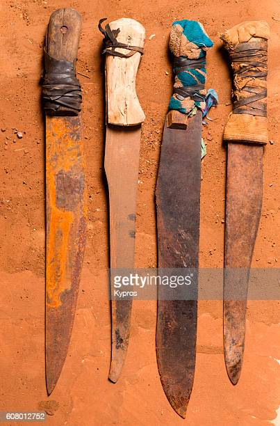 Africa Dar Es Salaam Africa, East Africa, Tanzania, View Of Machete Weapons (Year 2000)