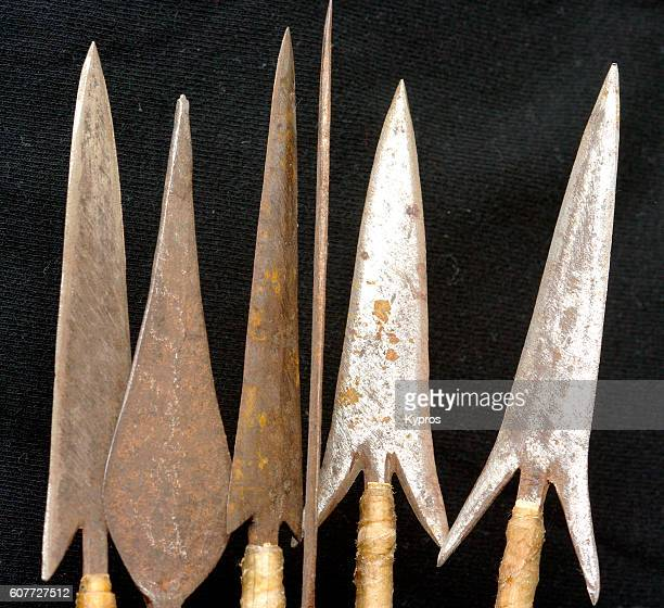Africa, East Africa, Kenya, Mombassa, View Of Hand-Made Barbed Arrow Heads (For Use Against People)