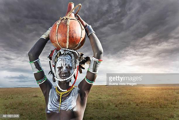 Africa. Ethiopia.  Omo Valley. Mursi people
