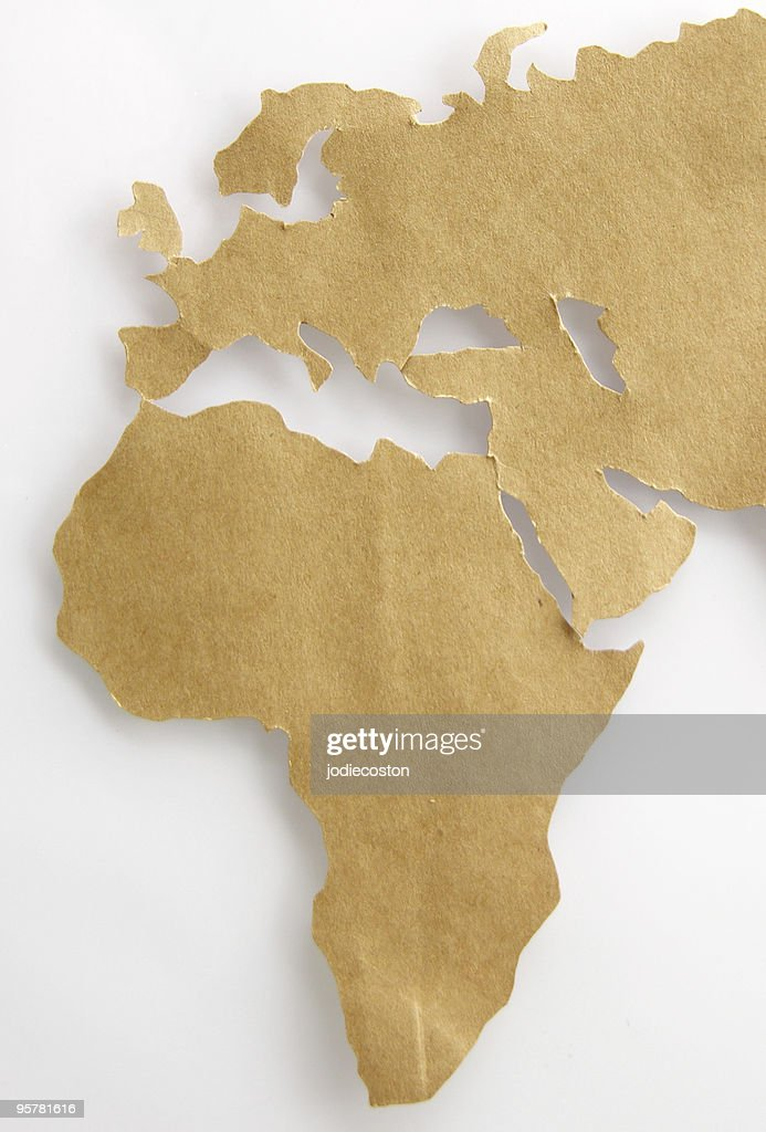 Africa, Europe and Middle East : Stock Photo