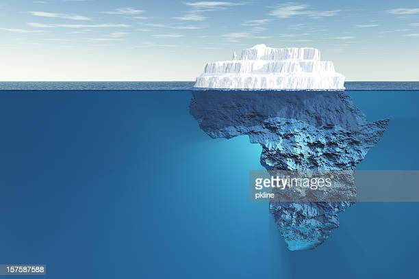 africa iceberg underwater - berg stock pictures, royalty-free photos & images