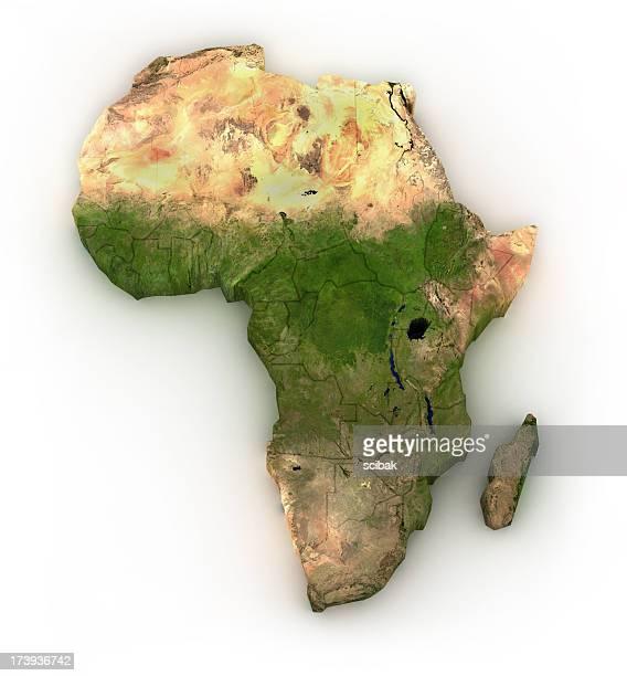 Afrique-isolé sur blanc