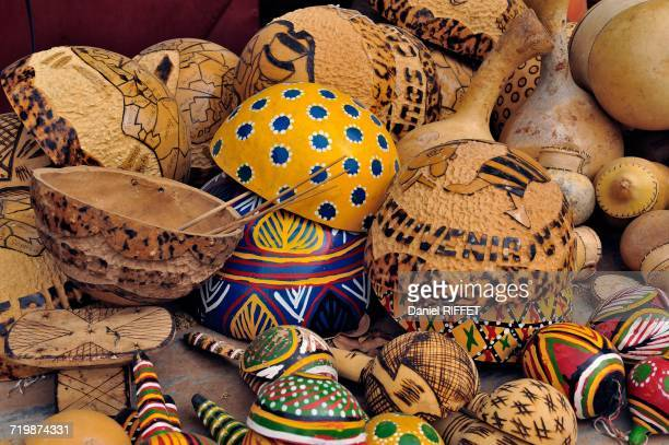 Africa, Mali, Segou, along the Niger River, handicrafts for tourists