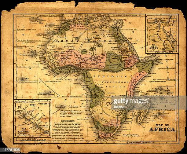 Africa map dated 1839