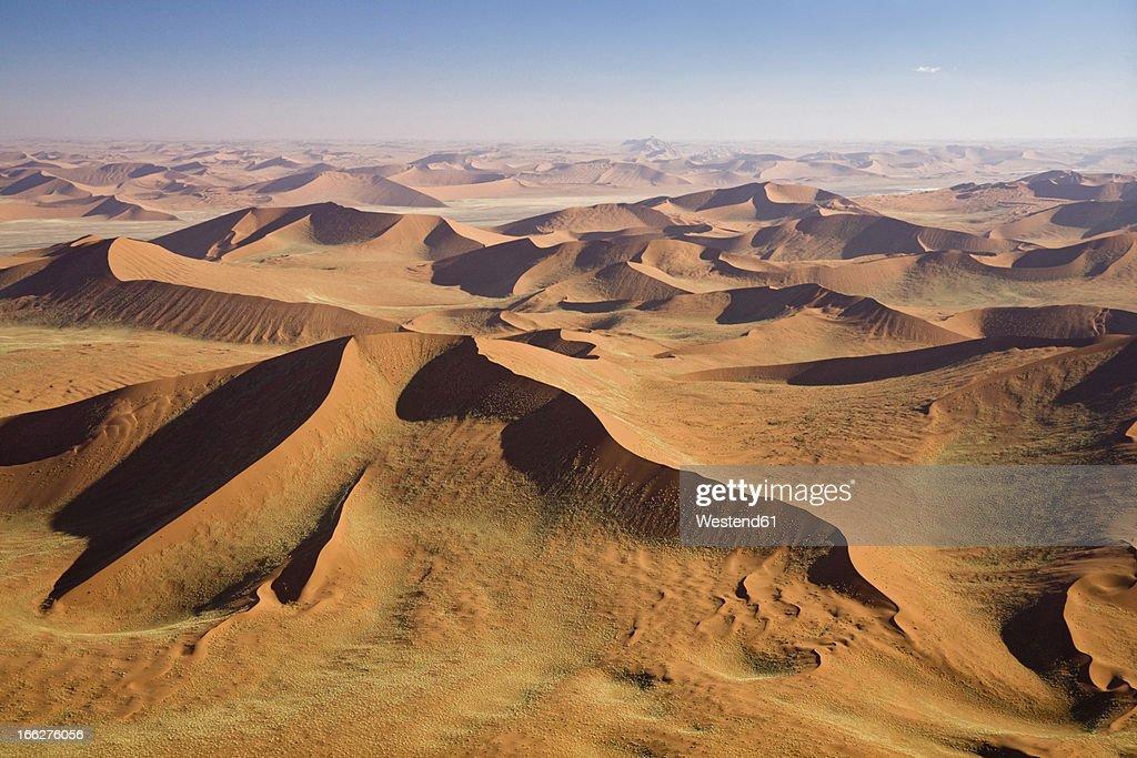 Africa, Namibia, Namib Desert, aerial view : Stock Photo