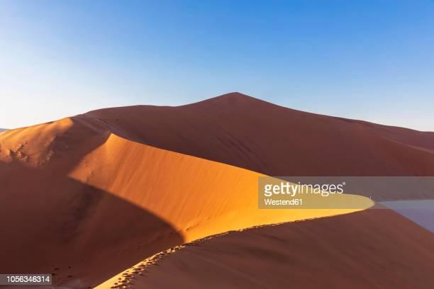 africa, namibia, namib desert, naukluft national park, tourists on sand dune 'big daddy' - namibia stock-fotos und bilder