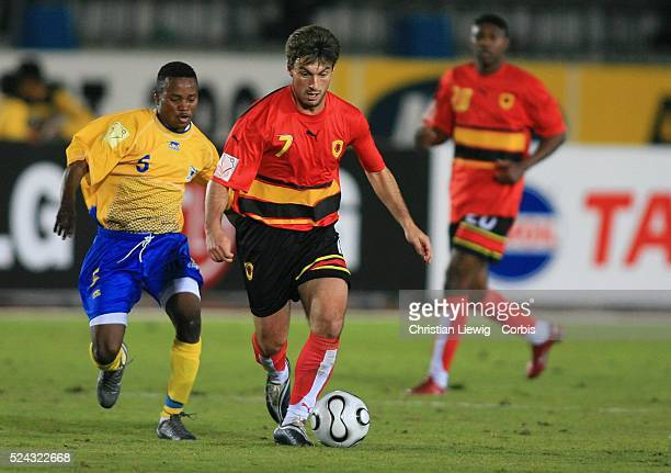 Africa Nations Cup Group B Angola vs Democratic Republic of Congo Biscotte Mbala and Paulo Figueiredo