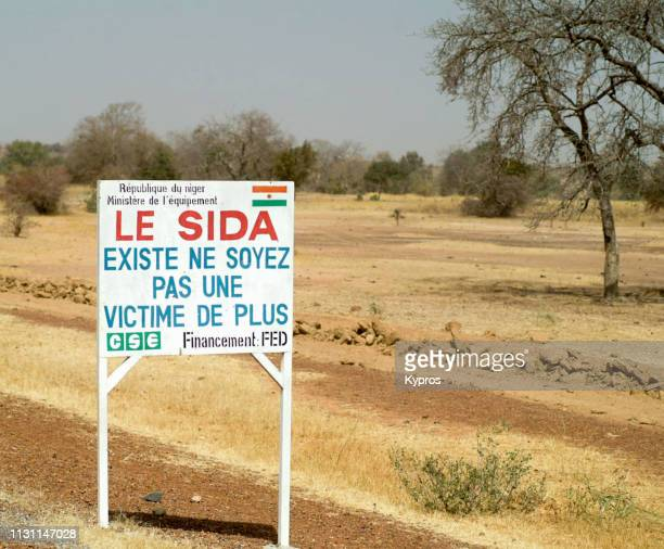 africa, niger, 2007: view of aids hiv sign - kaposis sarcoma stock photos and pictures