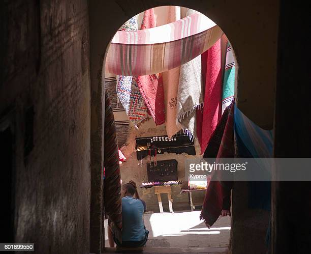 Africa, North Africa, Morocco, Fez Area, View Of The Old Souk Market Or Medina