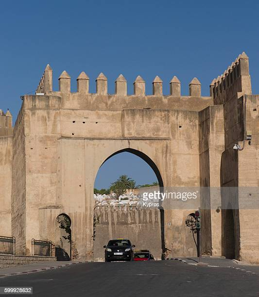 Africa, North Africa, Morocco, Fez Area, View Of The Walls Of Fez