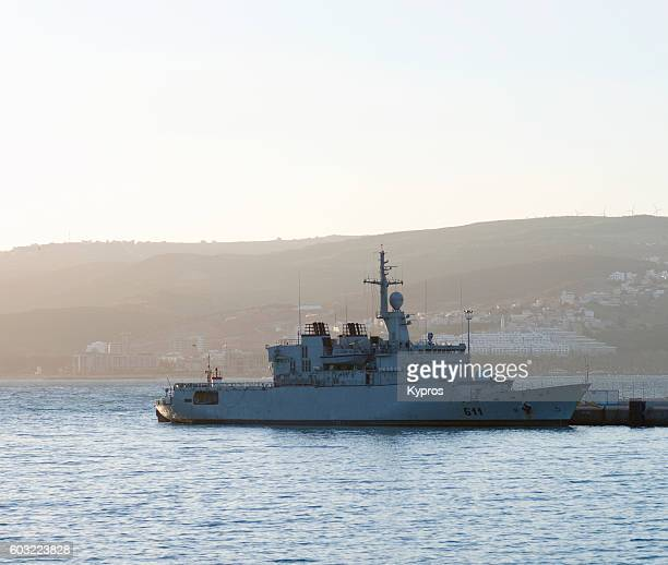 Africa, North Africa, Morocco, Tangier Area, View Of Boat - Military Warship