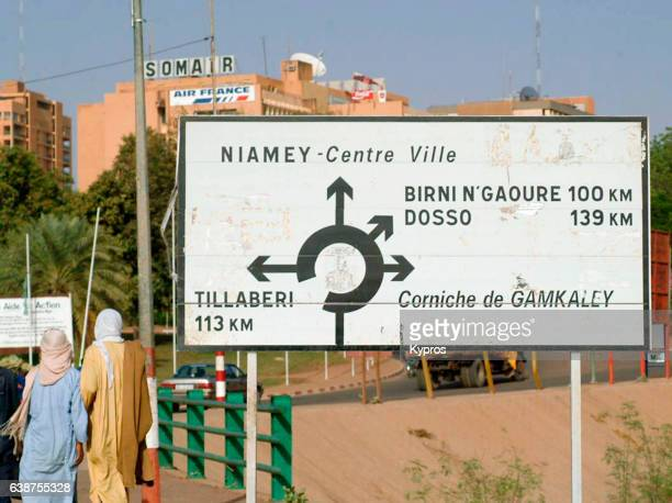 Africa, North Africa, Niger, Niamey, View Of Capital Town traffic Signs (Year 2007)