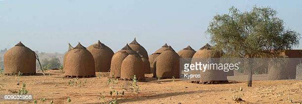 Africa, North Africa, Niger, View Of Mud Hut Village (Year 2007)
